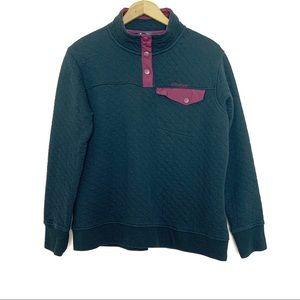 Spyder Black Quilted Half Snap Pocket Pullover